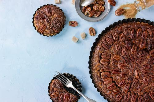 image for a Custard Pies - Pecan and Pumpkin